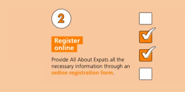 Step-by-step immigration: register online