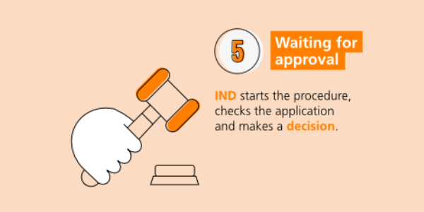 Step-by-step immigration: waiting for approval