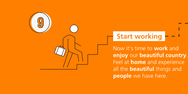 Step-by-step immigration: start working